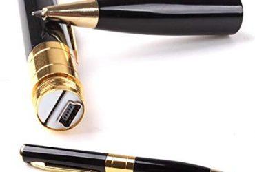 32GB Spy Pen Camera – Black and Golden