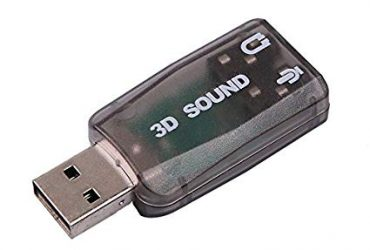 5.1 Channel USB External Sound Card Audio Adapter – Gray
