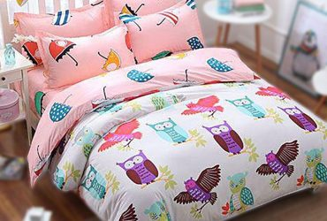 Aleo Cotton Bed Sheet With Two Pillow and One Comforter Cover