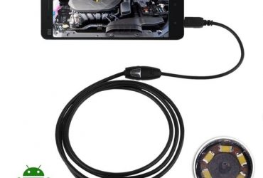 Android Endoscope USB Waterproof Spy Camera -Black
