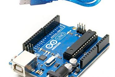 Arduino Uno R3 Microcontroller Board- Blue With usb cable