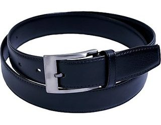 Black Artificial Leather Belt For Men