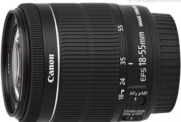 EF-S 18-55 IS STM Lens – Black