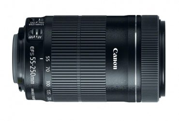 EF-S 55-250mm F4-5.6 IS STM Lens – Black