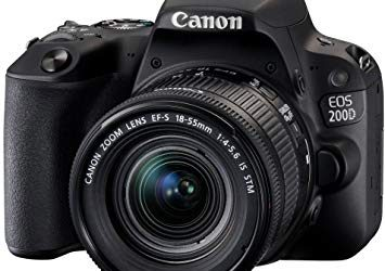 EOS 200D DSLR Camera with EF-S 18-55mm IS STM Lens Kit