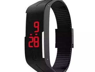 Fiber Smart Watch for Men – Black