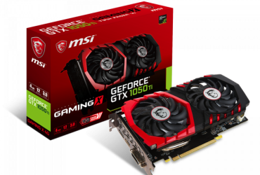 GTX-1050Ti 4GB Gaming DDR-5 Graphics Card – Black and Red