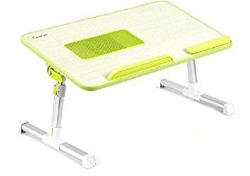Laptop Table Stand with Cooling Fan – Green
