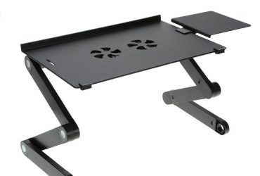 Multi Functional Mobile Laptop Table Stand with mouse pade and two cooling fan
