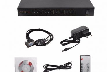 New HDMI 4×4 Matrix Switch Splitter Amplifier 1080p 3D with Remote Control