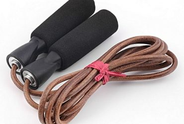 PU Leather Skipping Jump Rope Exercise Fitness For Gym Sport Training