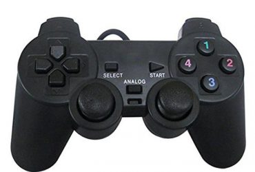 USB PC Game Dual Shock Joystick Controller – Black