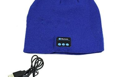 Warm Beanie Hat Wireless Bluetooth Music Cap Headphone Headset Speaker Mic Blue