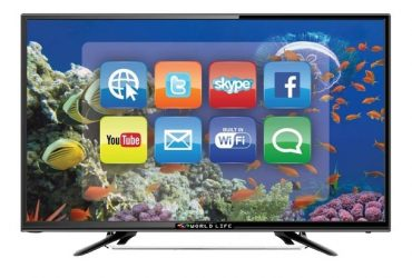 World Life Glorious – Double Glass Smart Wi-Fi Android TV – 32inch – Black