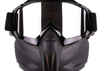 Detachable UV Protective Motorcycle Goggles Mask
