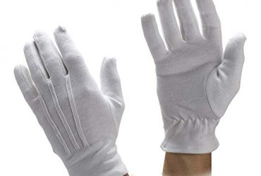 Gray and Black Cotton Gloves