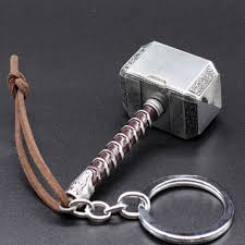 Hammer Metal Key Ring – Silver
