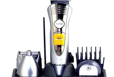 KM-580A 7-in-1 Multi-Functional Rechargeable Hair Trimmer – Silver
