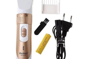 KM-9020 Exclusive Rechargeable Hair Clipper Trimmer – White and Gold