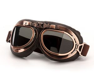 Motorcycle Goggles ( Vintage Aviator Pilot Glasses)