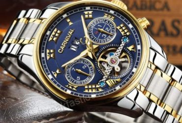 Carnival Automatic Blue Dial Watch 30% OFF