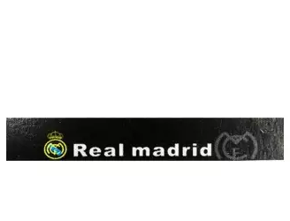 Real Madrid Plastic Reflective Front Glass Sticker – Black