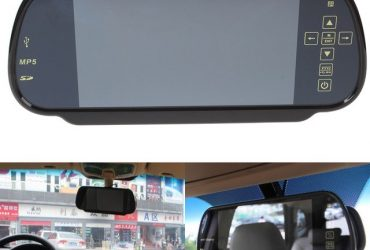 Rear View Mirror LCD Monitor for Car – Black