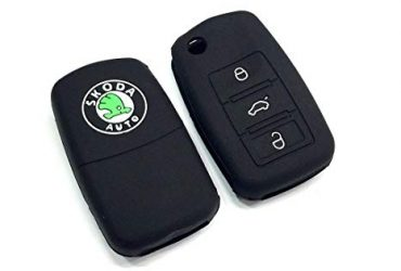 Silicone Key Cover for Car – Black
