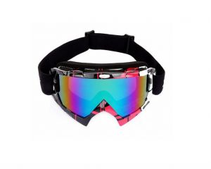 WOLFBIKE Winter Windproof Ski Glasses Goggles, UV 400 Protection Anti-fog Snow Glasses for Men – Red