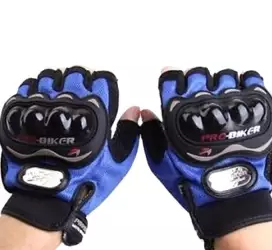 Hand Gloves Half Finger – Black and Blue