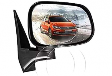 JTPC 2 Pack Antifog Screen Protector Film for Automobile Car Rear-View Mirror – Transparent