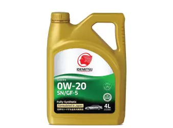 IDEMITSU SN/GF-5 0W-20 Fully-Synthetic Car Engine Oil-4L with Free PIAA Oil Filter