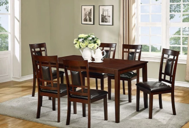 Dining table with 6 char